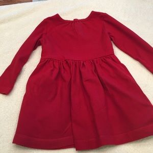Primary Red size 2-3 long sleeve 100% cotton dress